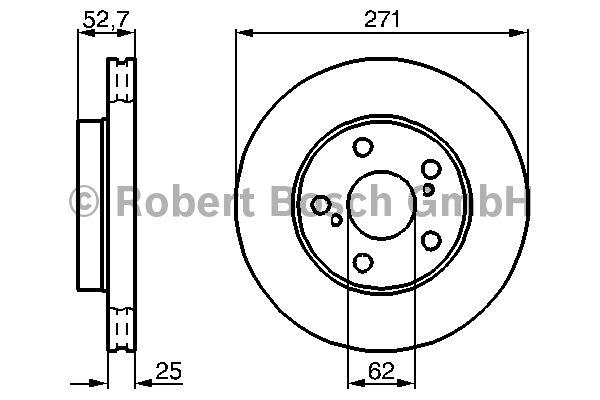 Disque de frein - BOSCH - 0 986 478 631
