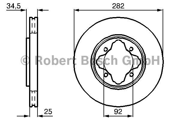 Disque de frein - BOSCH - 0 986 478 634