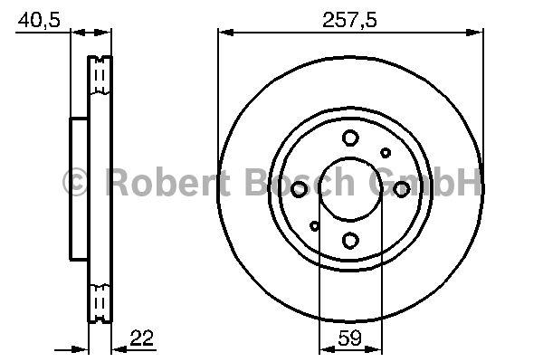 Disque de frein - BOSCH - 0 986 478 639
