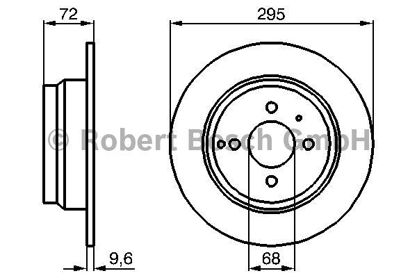 Disque de frein - BOSCH - 0 986 478 640