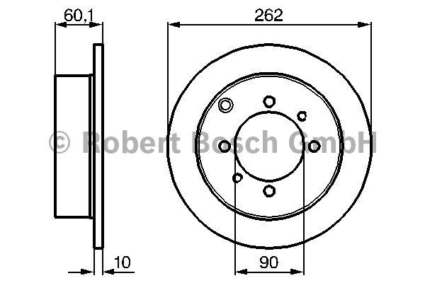 Disque de frein - BOSCH - 0 986 478 655