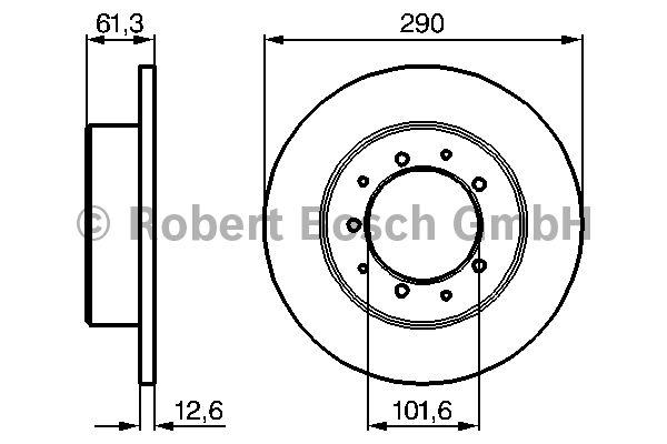 Disque de frein - BOSCH - 0 986 478 656