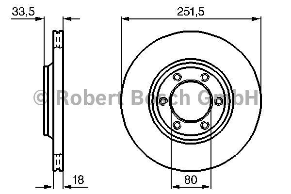 Disque de frein - BOSCH - 0 986 478 658