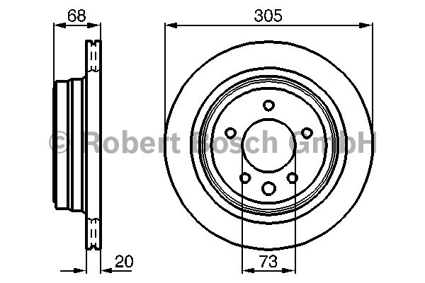 Disque de frein - BOSCH - 0 986 478 660