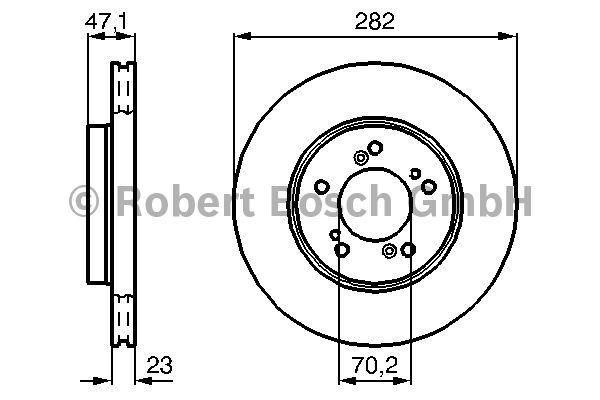 Disque de frein - BOSCH - 0 986 478 667