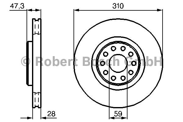 Disque de frein - BOSCH - 0 986 478 669