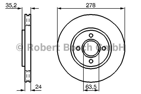Disque de frein - BOSCH - 0 986 478 670