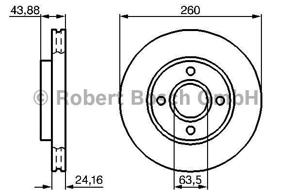 Disque de frein - BOSCH - 0 986 478 671
