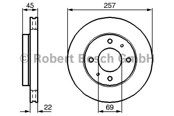 Disque de frein - BOSCH - 0 986 478 673