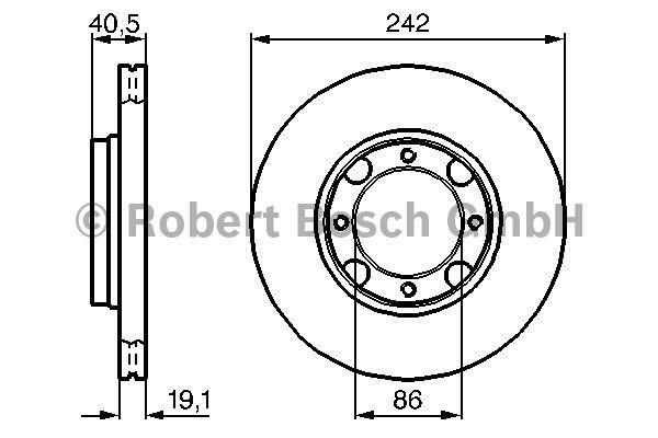 Disque de frein - BOSCH - 0 986 478 674