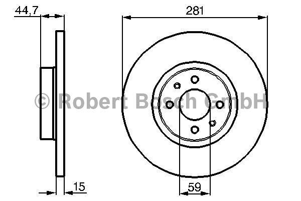 Disque de frein - BOSCH - 0 986 478 677