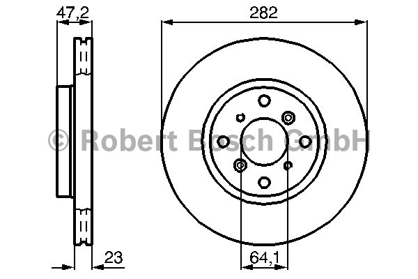 Disque de frein - BOSCH - 0 986 478 681