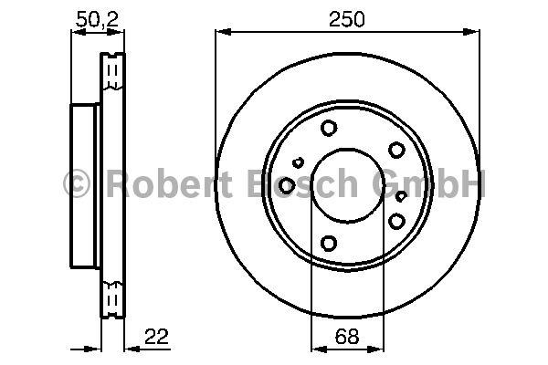 Disque de frein - BOSCH - 0 986 478 685