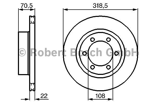 Disque de frein - BOSCH - 0 986 478 698