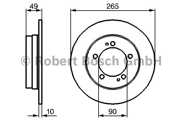 Disque de frein - BOSCH - 0 986 478 707