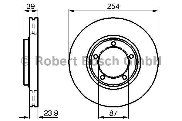 Disque de frein - BOSCH - 0 986 478 714