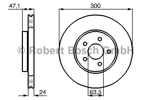 Disque de frein - BOSCH - 0 986 478 718