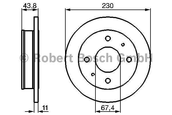 Disque de frein - BOSCH - 0 986 478 727
