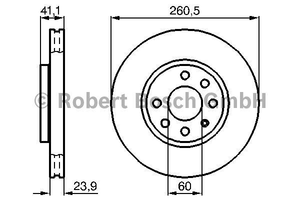 Disque de frein - BOSCH - 0 986 478 730