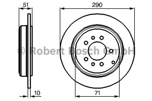 Disque de frein - BOSCH - 0 986 478 733