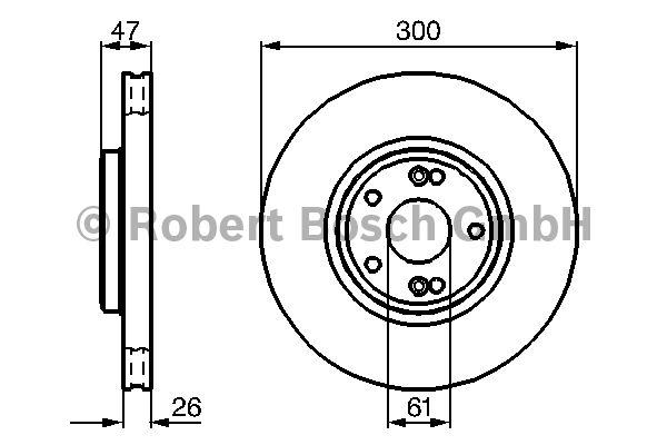 Disque de frein - BOSCH - 0 986 478 743