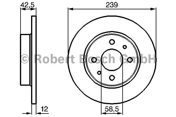 Disque de frein - BOSCH - 0 986 478 747