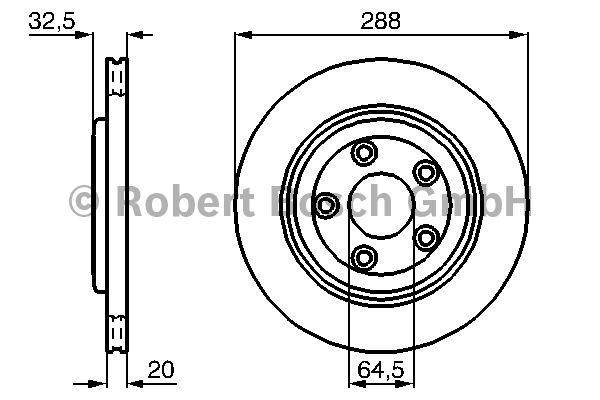 Disque de frein - BOSCH - 0 986 478 777