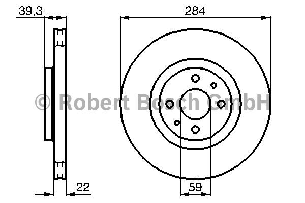 Disque de frein - BOSCH - 0 986 478 786