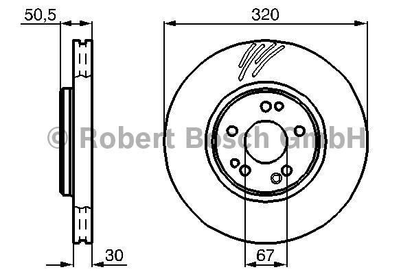 Disque de frein - BOSCH - 0 986 478 791