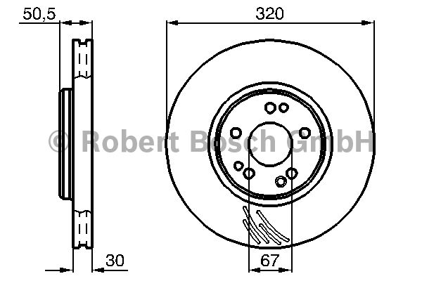 Disque de frein - BOSCH - 0 986 478 792