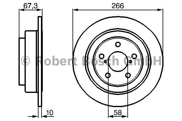 Disque de frein - BOSCH - 0 986 478 799