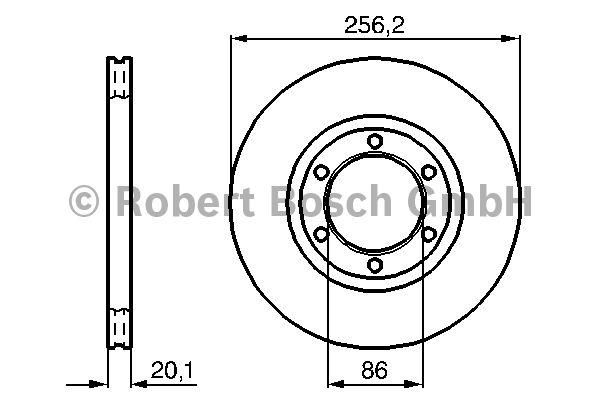 Disque de frein - BOSCH - 0 986 478 802