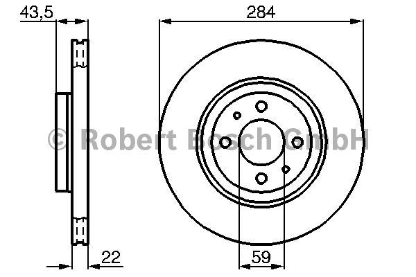 Disque de frein - BOSCH - 0 986 478 810