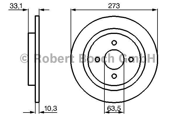 Disque de frein - BOSCH - 0 986 478 815