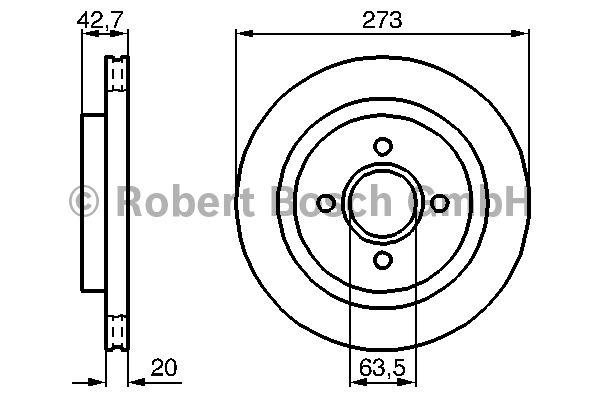 Disque de frein - BOSCH - 0 986 478 816