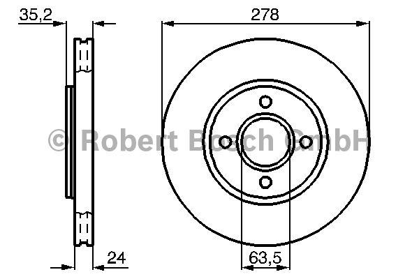 Disque de frein - BOSCH - 0 986 478 822
