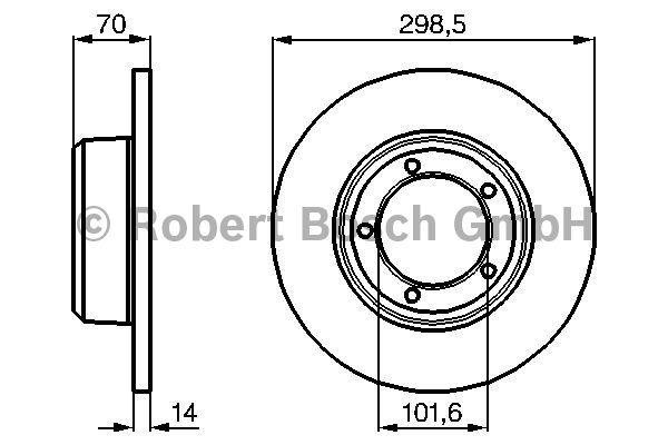 Disque de frein - BOSCH - 0 986 478 827