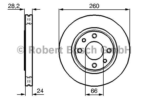Disque de frein - BOSCH - 0 986 478 830