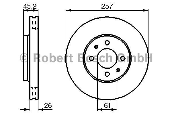 Disque de frein - BOSCH - 0 986 478 835