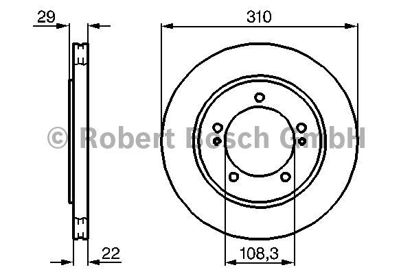 Disque de frein - BOSCH - 0 986 478 839