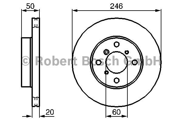 Disque de frein - BOSCH - 0 986 478 841