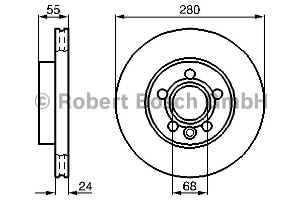 Disque de frein - BOSCH - 0 986 478 846
