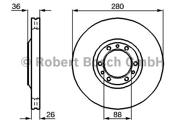 Disque de frein - BOSCH - 0 986 478 854
