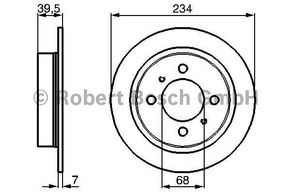 Disque de frein - BOSCH - 0 986 478 865