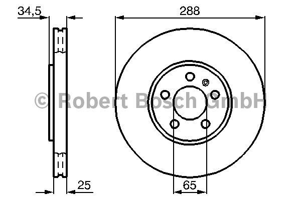 Disque de frein - BOSCH - 0 986 478 867
