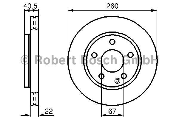 Disque de frein - BOSCH - 0 986 478 875