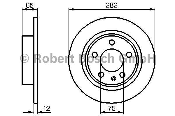 Disque de frein - BOSCH - 0 986 478 891