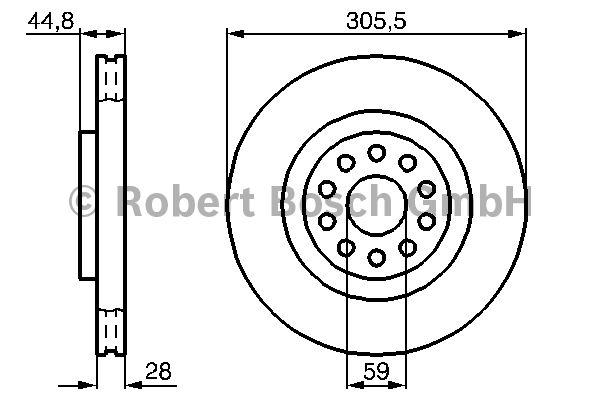 Disque de frein - BOSCH - 0 986 478 963