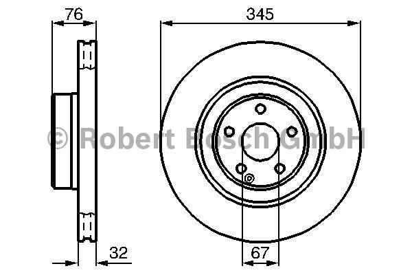 Disque de frein - BOSCH - 0 986 478 964