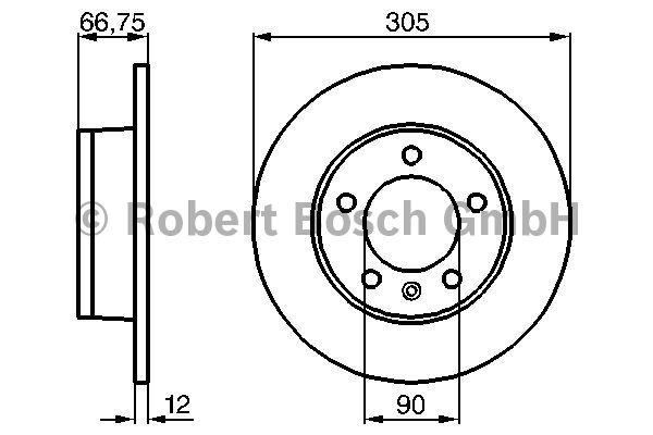 Disque de frein - BOSCH - 0 986 478 970